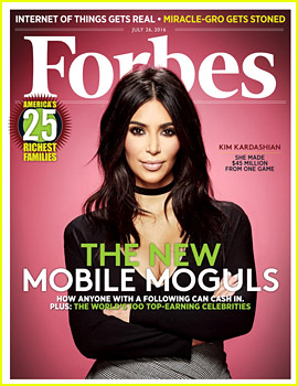 Kim Kardashian Covers 'Forbes' to Highlight Video Game App