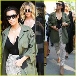 Kim & Khloe Kardashian Get Mobbed by Fans While Shopping