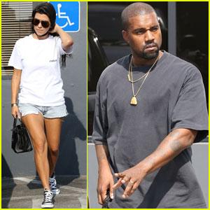 Kourtney Kardashian & Kanye West Take Their Kids to a Trampoline Park!