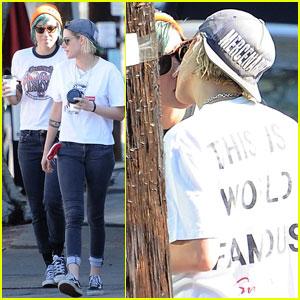 Kristen Stewart & Alicia Cargile Reunite in LA & Show Some PDA