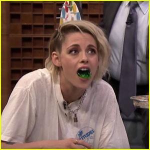 Kristen Stewart Plays Jell-O Shot Twister with Jimmy Fallon