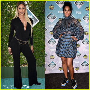 Laverne Cox & Tracee Ellis Ross Hit Up Teen Choice Awards 2016