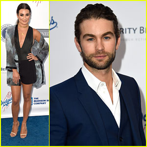 Lea Michele & Chace Crawford Head to Dodgers Stadium For Blue Diamond Gala