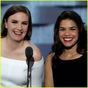Lena Dunham & America Ferrera Bash Donald Trump in DNC Speech (Video)