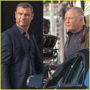 Liev Schreiber & Jon Voight Film 'Ray Donovan' in Los Angeles