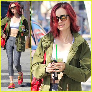 Lily Collins Was Apprehensive About Dying Her Hair Flame Red