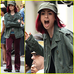 Lily Collins Screams Her Head Off While Filming 'Okja'