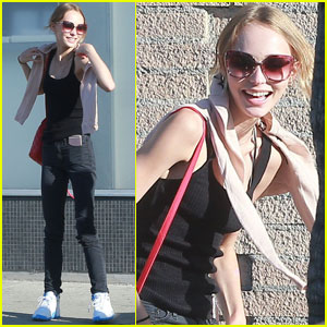 Lily-Rose Depp Has a Casual Lunch in Hollywood