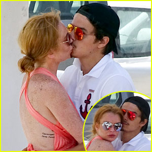 Lindsay Lohan & Egor Tarabasov Pack on the PDA in Greece!