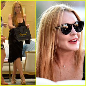Lindsay Lohan Steps Out After Friend Hofit Golan Denies Pregnancy Rumors