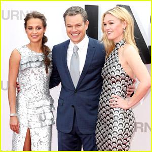 Matt Damon, Alicia Vikander, & Julia Stiles Premiere 'Jason Bourne' in London!