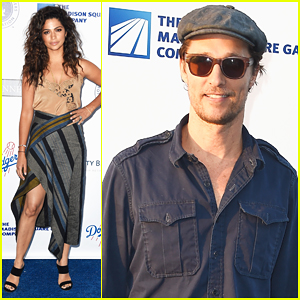 Matthew McConaughey & Camila Alves Couple Up At Blue Diamond Gala!