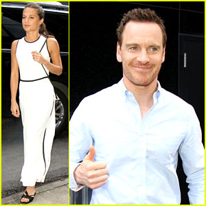 Michael Fassbender & Alicia Vikander Kick Off 'Light Between Oceans' Press Tour