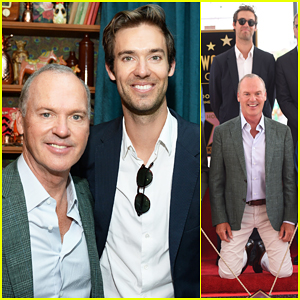 Michael Keaton Gets Honored By Son Sean Douglas At Hollywood Walk of Fame Ceremony!