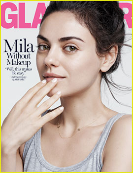 Mila Kunis Goes Makeup Free, Talks Relationship with Ashton Kutcher for 'Glamour'
