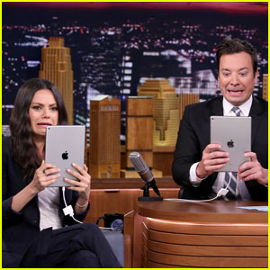 Watch Mila Kunis & Jimmy Fallon Pretend to Be on a Tinder Date