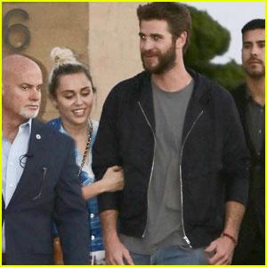 Miley Cyrus & Liam Hemsworth Have Romantic Dinner Date