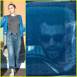 Miley Cyrus Picks Up Dog Food While Liam Hemsworth Waits in Car