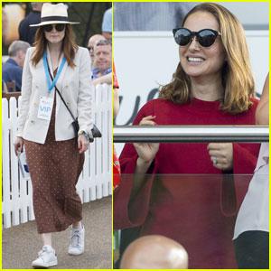 Natalie Portman & Julianne Moore Enjoy British Summer Time Festival