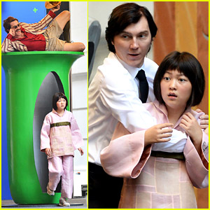 Paul Dano Films 'Okja' Scenes with Young Lead Seo-Hyeon Ahn