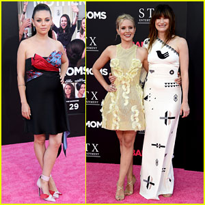 Pregnant Mila Kunis, Kristen Bell, & More Step Out for 'Bad Moms' Premiere!