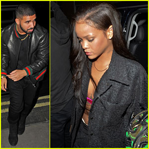 Rihanna Heads Back to London Hotel with Drake