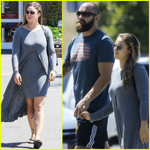 Ronda Rousey Spends the Afternoon With Boyfriend Travis Browne