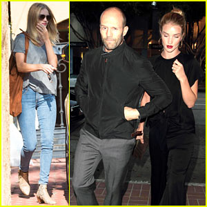 Rosie Huntington-Whiteley & Jason Statham Step Out for a Dinner Date!