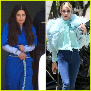 Emma Roberts & Lea Michele Begin Filming 'Scream Queens' Season 2!