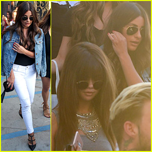 Selena Gomez & Lea Michele Leave the Salon Together