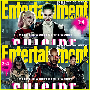 'Suicide Squad' Characters Highlighted on 'EW' Covers!
