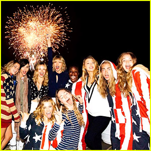 Taylor Swift & Her Squad Wish Everyone a Happy Fourth of July!