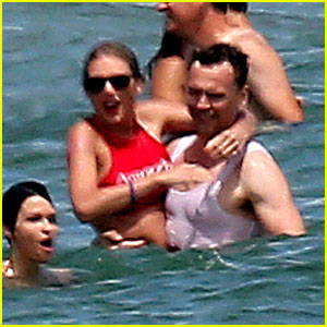 Taylor Swift & Tom Hiddleston Pack on PDA in Front of Her Squad for Fourth of July Weekend!