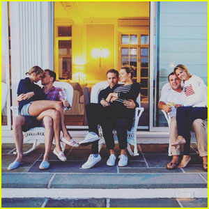 Taylor Swift Sits on Tom Hiddleston's Lap in Cute Photo With Blake Lively & Ryan Reynolds!