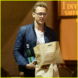 Tom Hiddleston Goes on Nighttime Run for Wine & Takeout