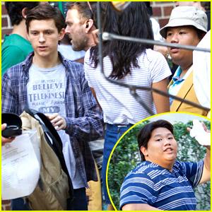 Tom Holland Spotted on 'Spider-Man' Set with Jacob Batalon