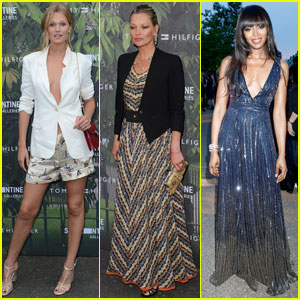 Toni Garrn & Kate Moss Attend Tommy Hilfiger's Summer Party