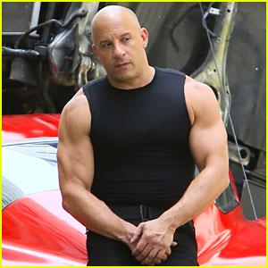 Vin Diesel Flexes His Muscles on 'Fast 8' Set!