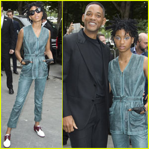 Will Smith & Daughter Willow Attend 'Chanel' Haute Couture Show