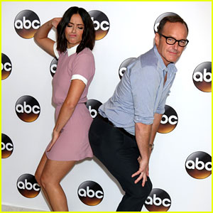 Chloe Bennet & Clark Gregg Get Cheeky At ABC's Summer TCA Tour Party