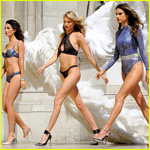 Alessandra Ambrosio & Lily Aldridge Shoot for Victoria's Secret Holiday Campaign!
