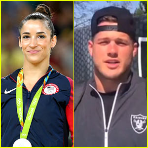 Aly Raisman Accepts Date Proposal From Raiders Tight End Colton Underwood!