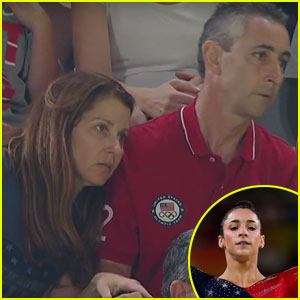Watch Aly Raisman's Nervous Parents Squirm in Their Seats at Rio Olympics 2016!