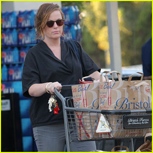 Amy Poehler Stocks Up on Groceries in Los Angeles