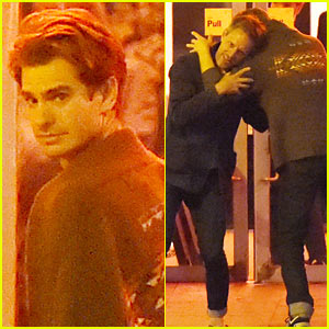 Andrew Garfield Grabs Dinner With Friends After Stepping Out with Emma Stone