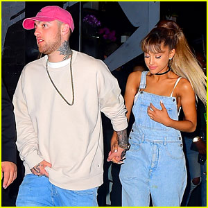 Ariana Grande & Boyfriend Mac Miller Hold Hands at VMAs Party