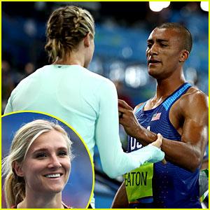 Ashton Eaton Celebrates Decathlon Gold with Wife Brianne!