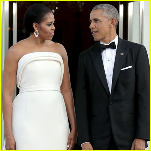 Barack & Michelle Obama Get Glam For White House State Dinner