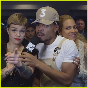 Beyonce Surprises Chance the Rapper During VMAs Backstage Interview (Video)