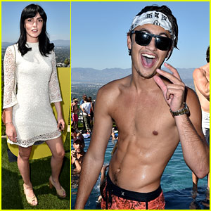 Brandon Lee Shows Off His Toned Abs at Just Jared's Summer Bash Presented by Uno